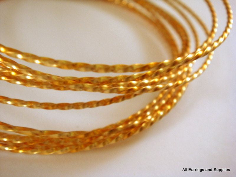 Twisted Jewelry Wire, Gold Plated Copper, Soft Temper, Non-Tarnish, 21g - 15 ft.- STR9068WR-TWG15