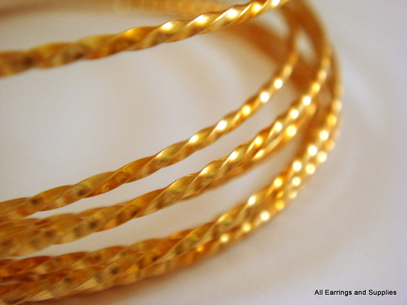 Twisted Jewelry Wire, Gold Plated Copper, Soft Temper, Non-Tarnish, 18g - 8 ft.- STR9069WR-TWG8