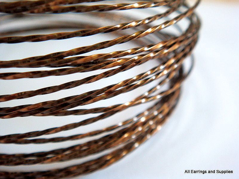 Twisted Jewelry Wire, Vintage Bronze Soft Temper Non-Tarnish Copper, 21g - 15 ft.- STR9068WR-TWVB15