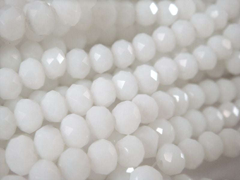 White Glass Beads