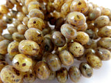 Yellow Picasso Czech Beads