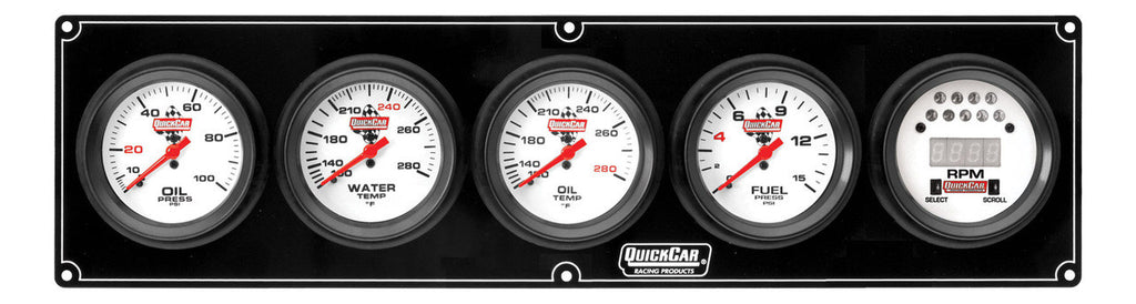 QuickCar Extreme 4 Gauge Panel w/Tach