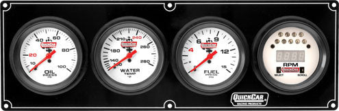 QuickCar Extreme 3 Gauge Panel w/Tach