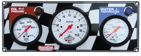 "Quick Car Panels with 3-3/8"" Tach"