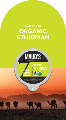Maud's Organic Single-Origin Fair-Trade Ethiopia Dark Roast Coffee Pods