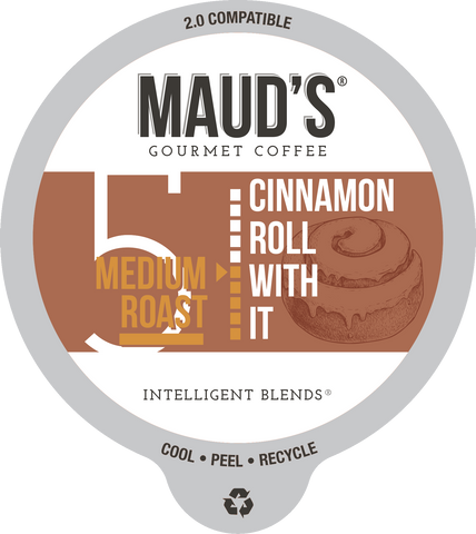 Maud's Cinnamon Roll With It Medium Roast Coffee Pods