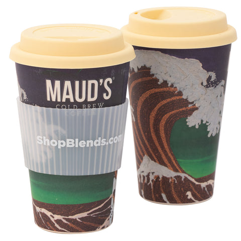 "Maud's ""Crashing Beans"" Bamboo Travel Mug"