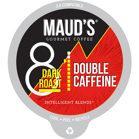 Maud's Double Caffeine Dark Roast Coffee Pods - 24ct
