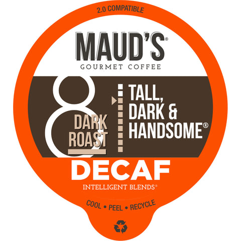Maud's Tall, Dark & Handsome Decaf Dark Roast Coffee Pods