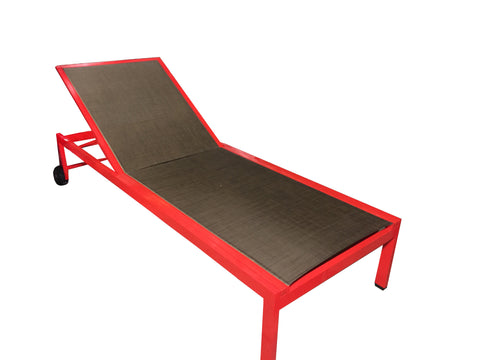 Java Lounge Chair - Red/Chocolate