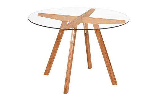 XIS Round Glass Top Table FSC® 100%