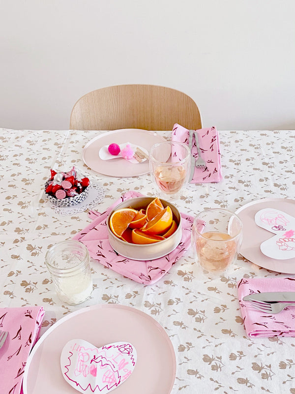 Setting a Table for Valentine's Day