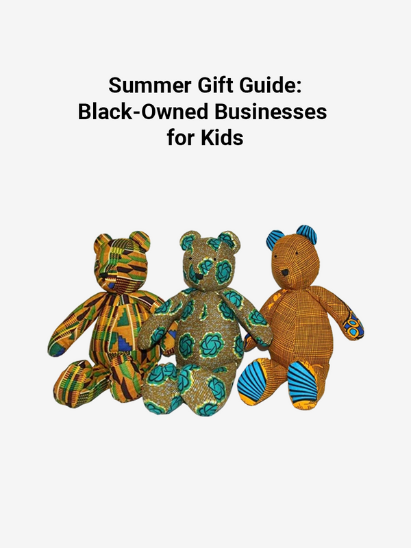 "Cover photo of article ""Gift Guide: Black-Owned Businesses for Kids"" 2020"