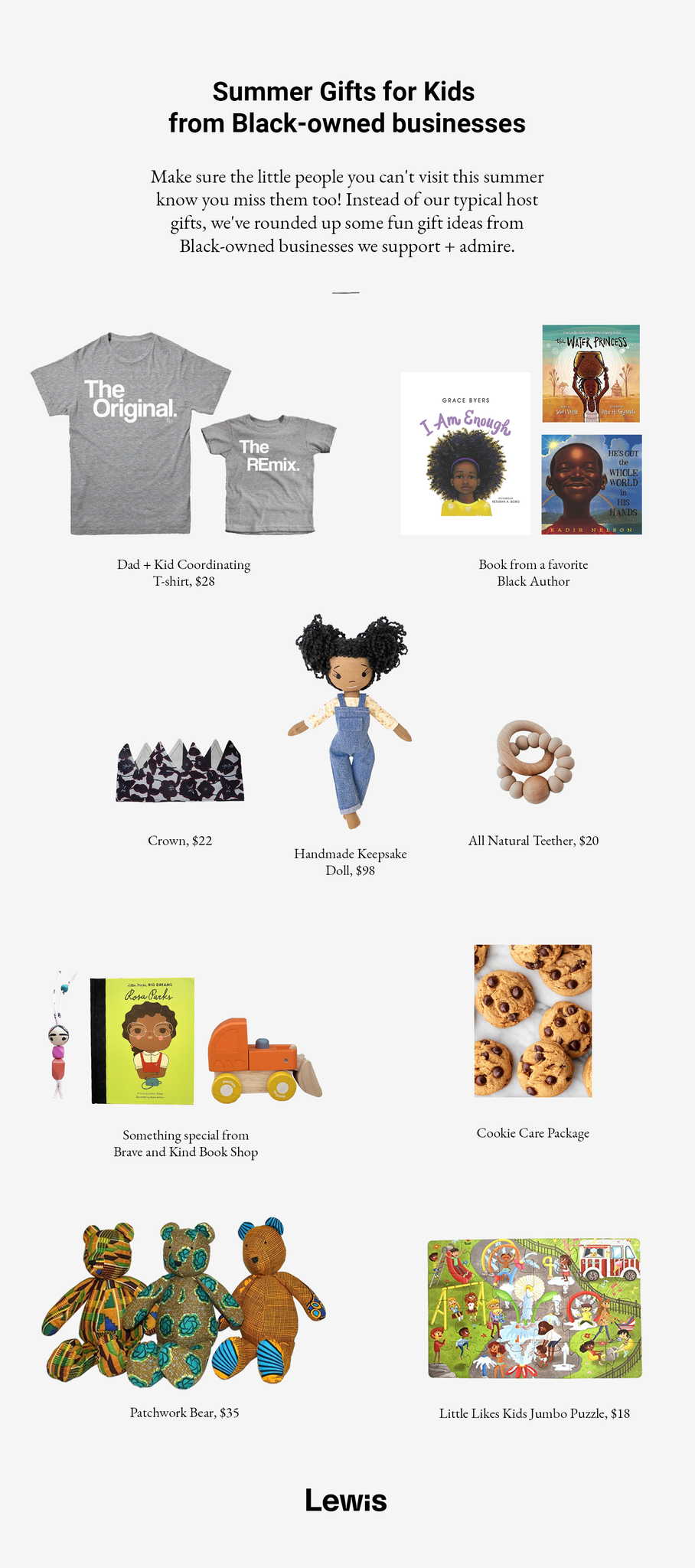 Roundup of children's toys and gifts from Black-owned businesses and artisans.