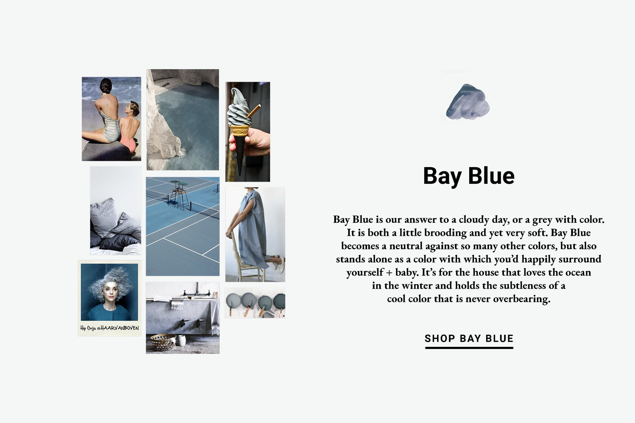 Bay Blue Color Inspiration Lewis Organic Baby
