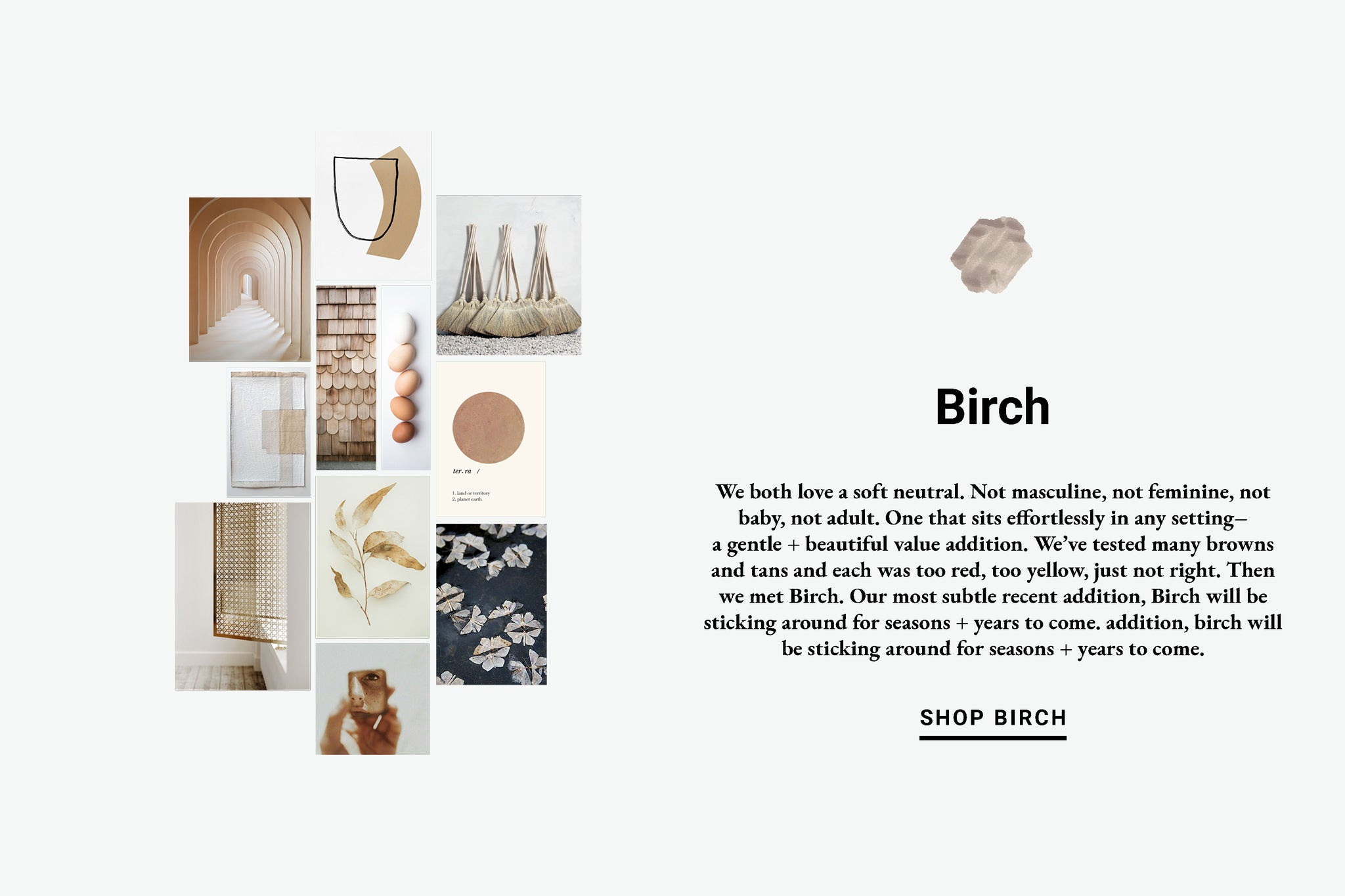 Birch Color Inspiration Lewis Organic Baby