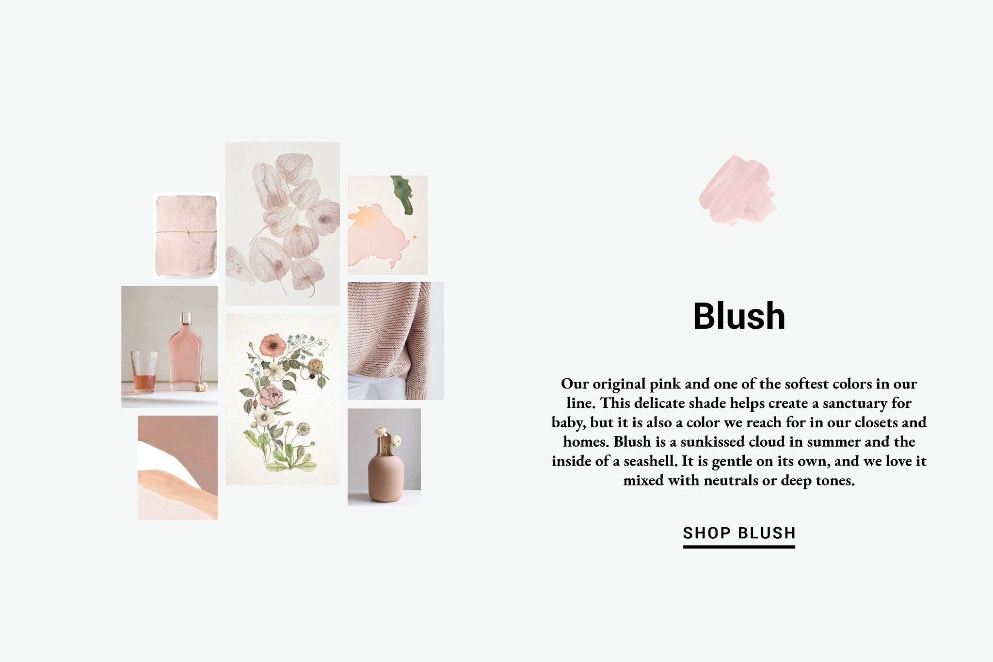 Blush Color Inspiration Lewis Organic Baby