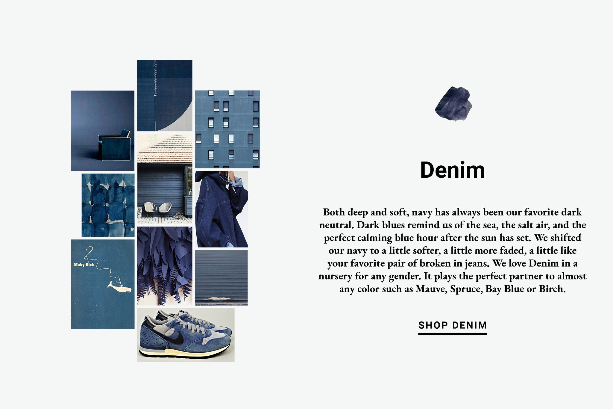 Denim Color Inspiration Lewis Organic Baby