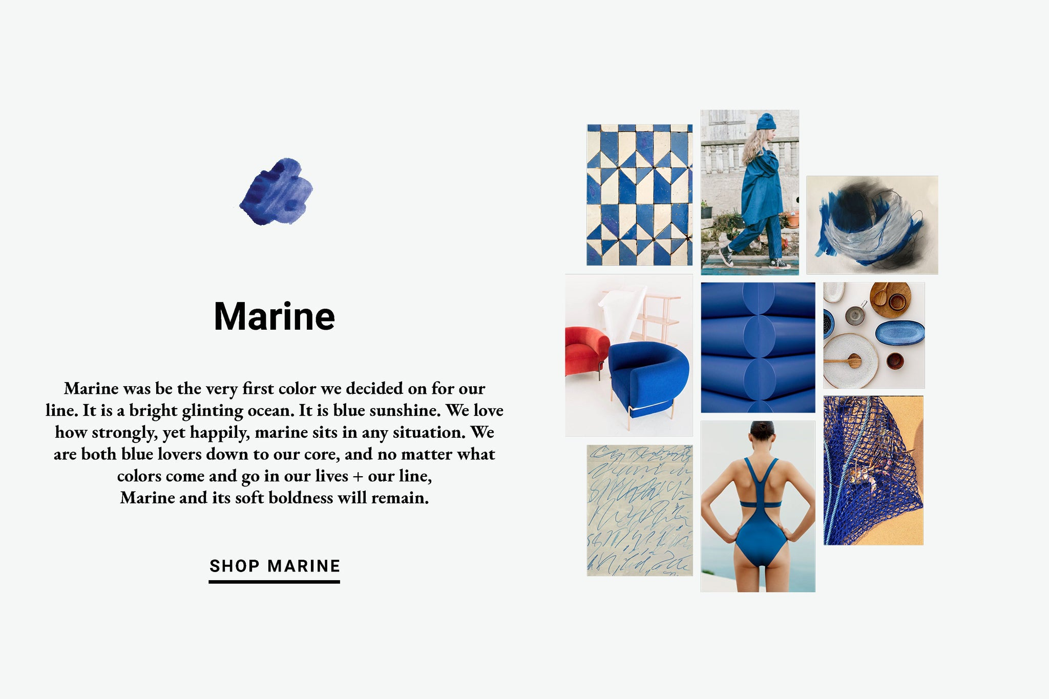 Marine Color Inspiration Lewis Organic Baby