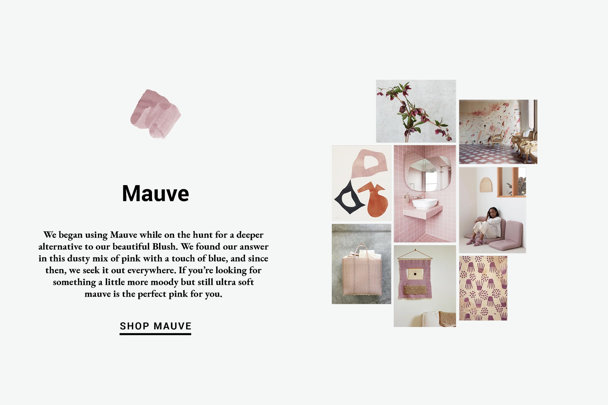 Mauve Color Inspiration Lewis Organic Baby