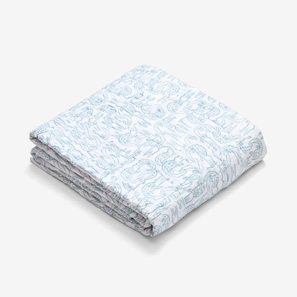 Twin Quilt - Alligator | Bay Blue