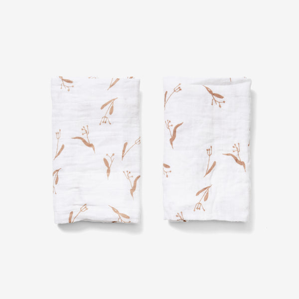 Burp Cloth Set - Pods | Wheat