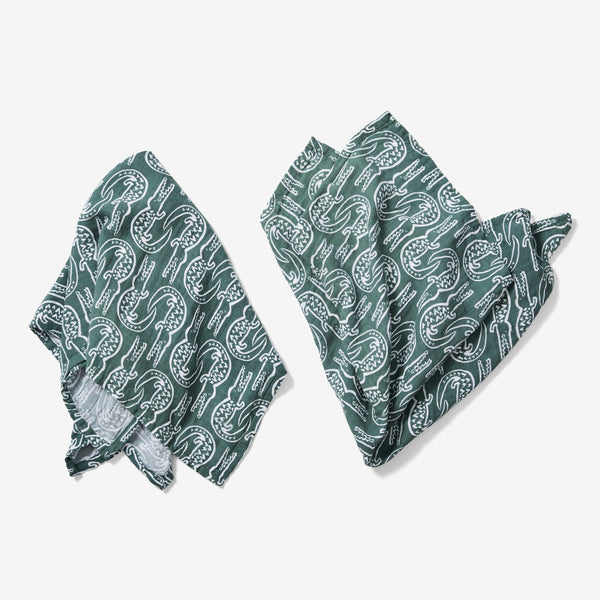 Burp Cloth Set - Alligator | Spruce Burp Cloths Lewis