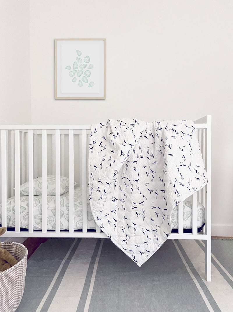Baby Quilt - Pods | Denim