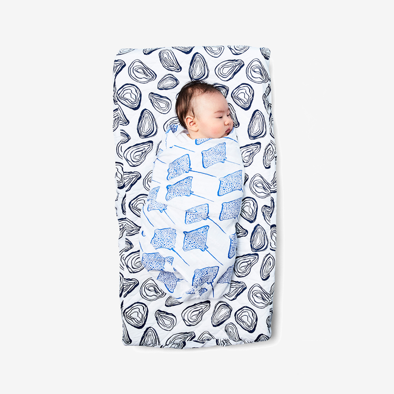 Changing Pad Cover - Oyster | Denim