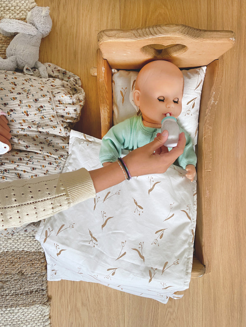 Doll Bedding - Pods | Wheat