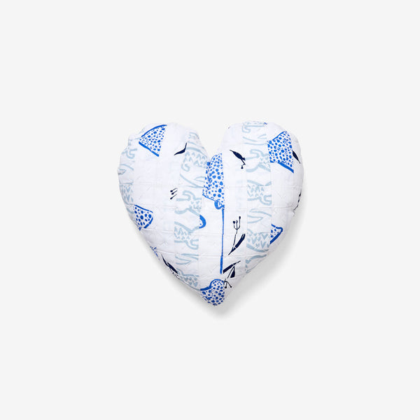 Heart Pillow | Blues