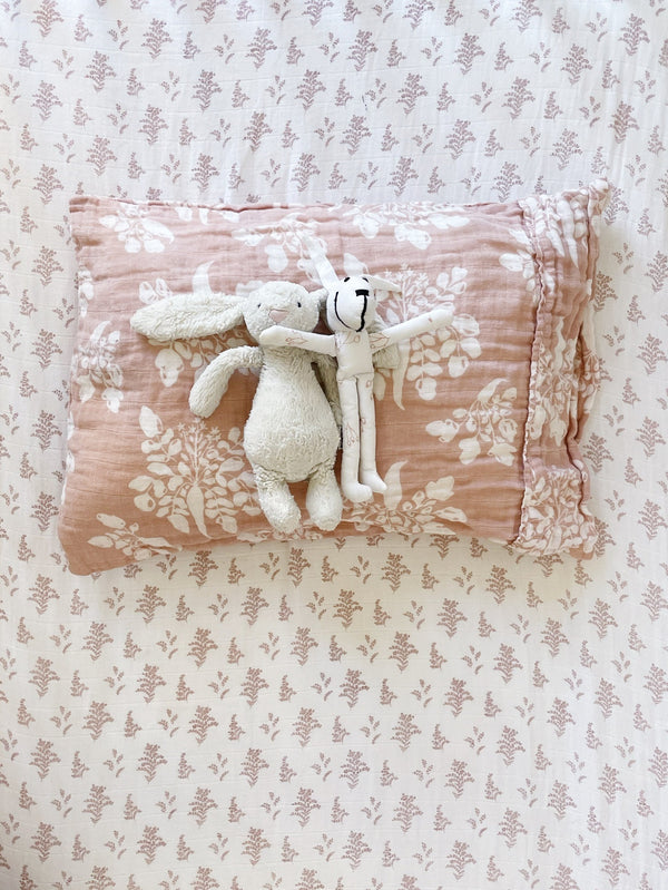 Toddler Pillowcase - Parsnip | Mauve