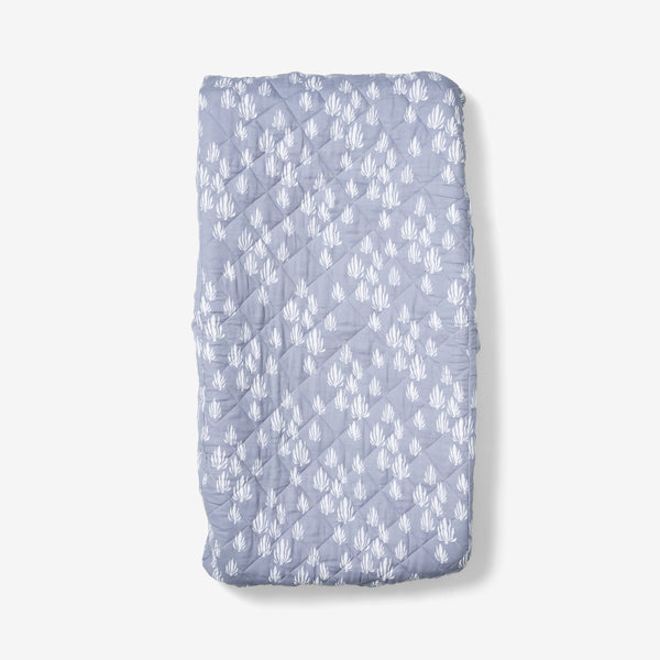 Changing Pad Cover - Seaweed | Bay Blue Changing Pad Cover Lewis