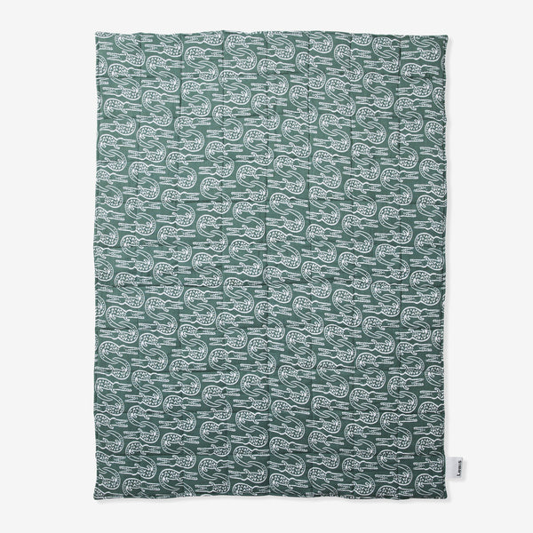 Quilted Muslin Blanket - Alligator | Spruce Quilted Baby Blanket Lewis