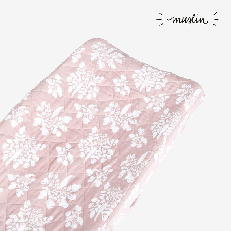 Changing Pad Cover - Parsnip | Mauve Changing Pad Cover Lewis