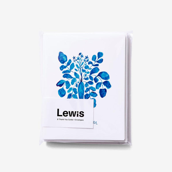 Thank You Cards - Set of 8 Stationery Lewis