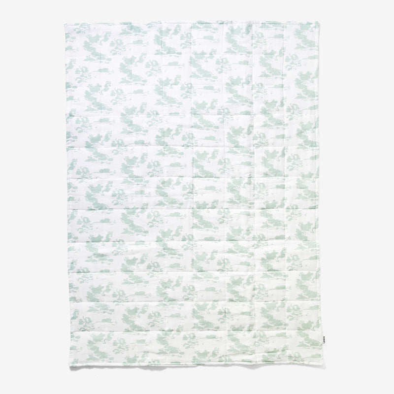 Quilted Baby Blanket - Clouds | Agave