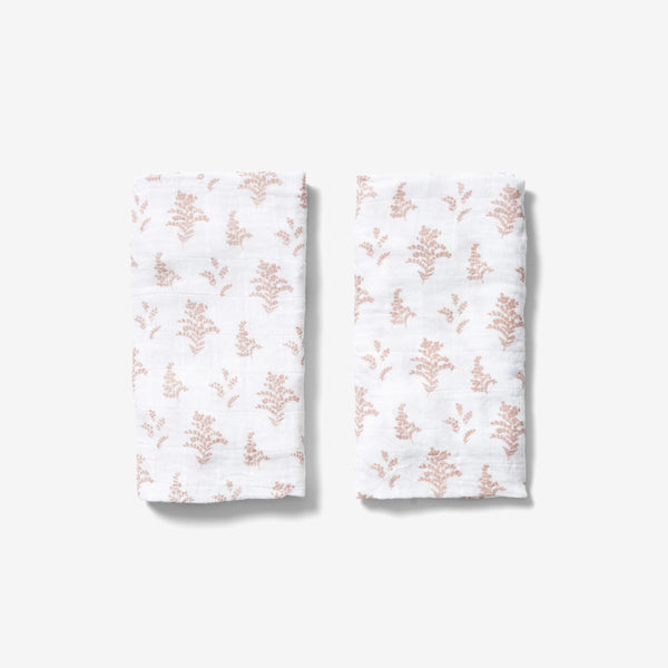 Burp Cloth Set - Goldenrod | Mauve