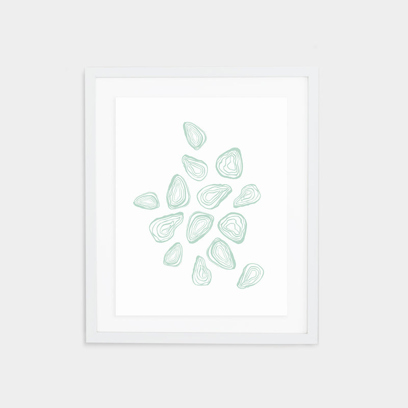 Oyster Print - Agave