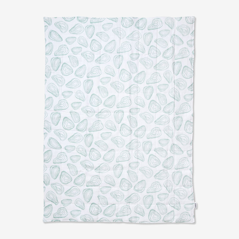 Quilted Baby Blanket - Oyster | Agave