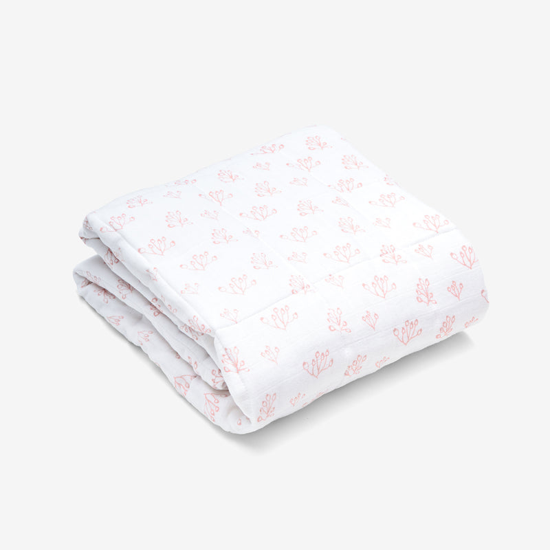 Quilted Baby Blanket - Rose Hip | Blush