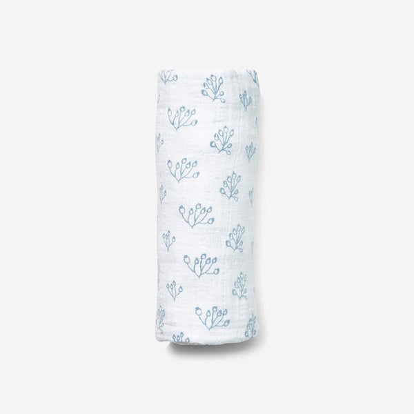 Swaddle - Rose Hip | Bay Blue Swaddle Lewis