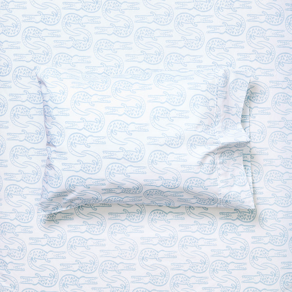 Toddler Pillowcase - Alligator | Bay Blue