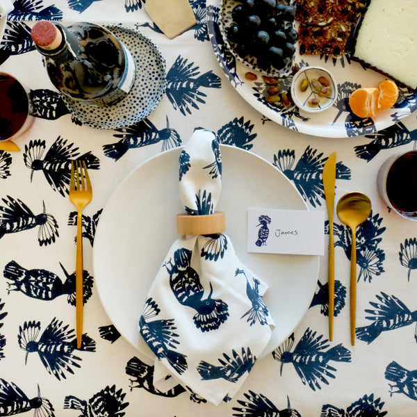 Tablecloth - Bird | Denim