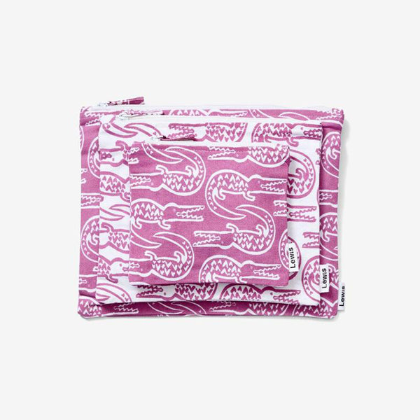 Zip Pouch Set - Alligator | Lilac