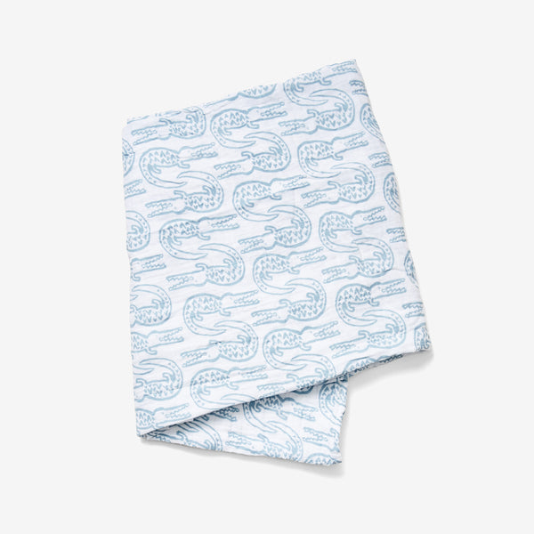 Swaddle - Alligator | Bay Blue