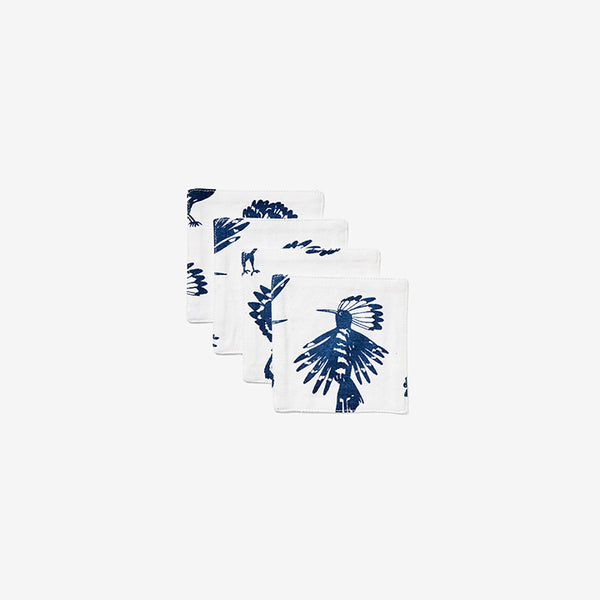 Cocktail Napkin Set - Set of Four | Bird