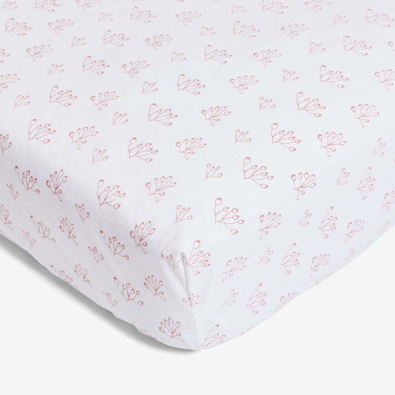 Crib Sheet - Rose Hip | Blush