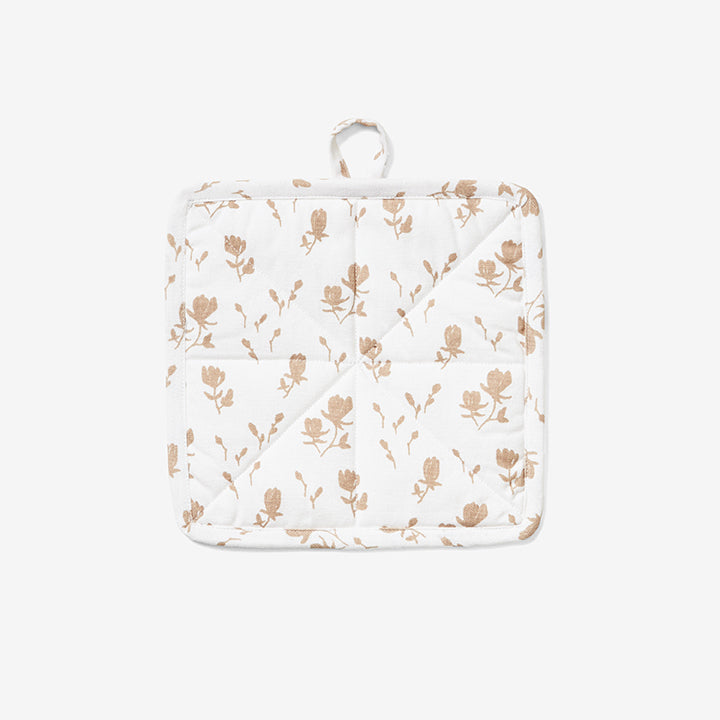 Quilted Potholder - Magnolia | Wheat
