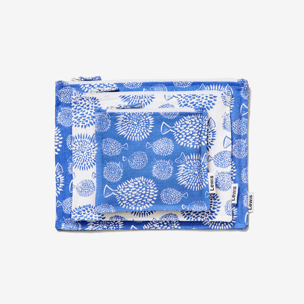 Zip Pouch Set - Blowfish | Marine